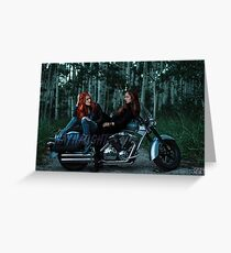 Wayhaught Motorbike Lovers - Colour Greeting Card