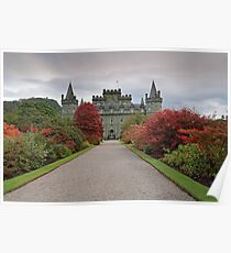 Inveraray Castle in Autumn Poster