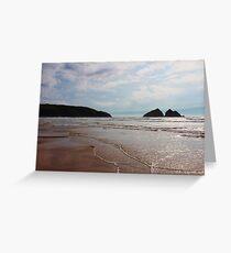 Holywell Bay, Cornwall. Greeting Card
