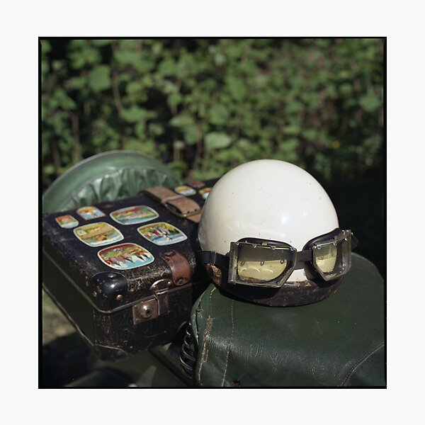 vespa and helmet • black forest, germany • 2008 Photographic Print