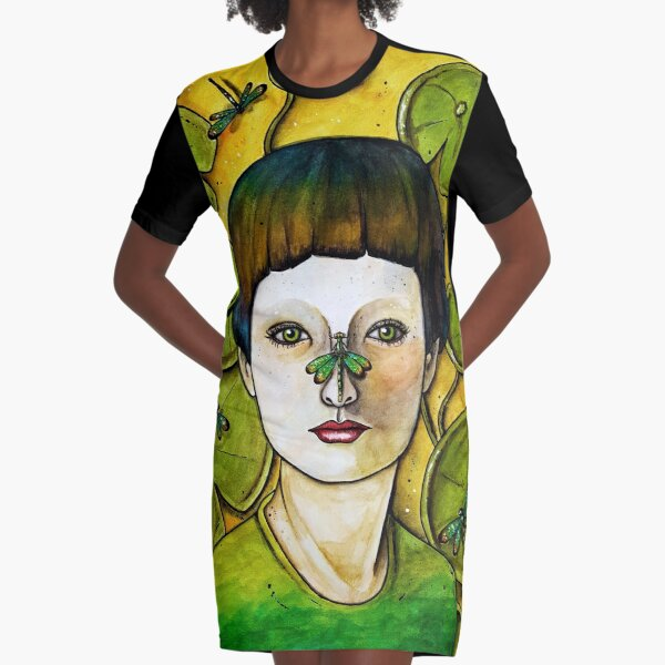 The Dragonfly Whisperer Graphic T-Shirt Dress
