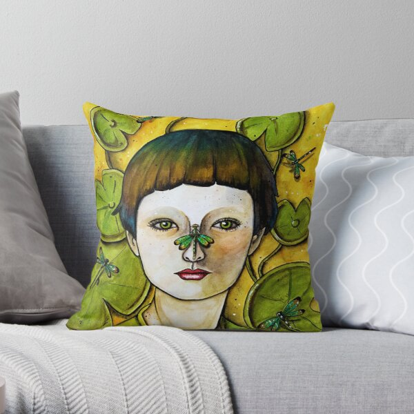The Dragonfly Whisperer Throw Pillow