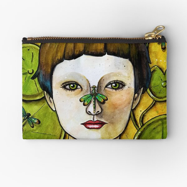 The Dragonfly Whisperer Zipper Pouch