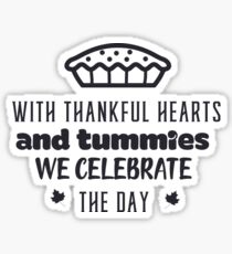Thanksgiving Celebration Funny Typography Sticker