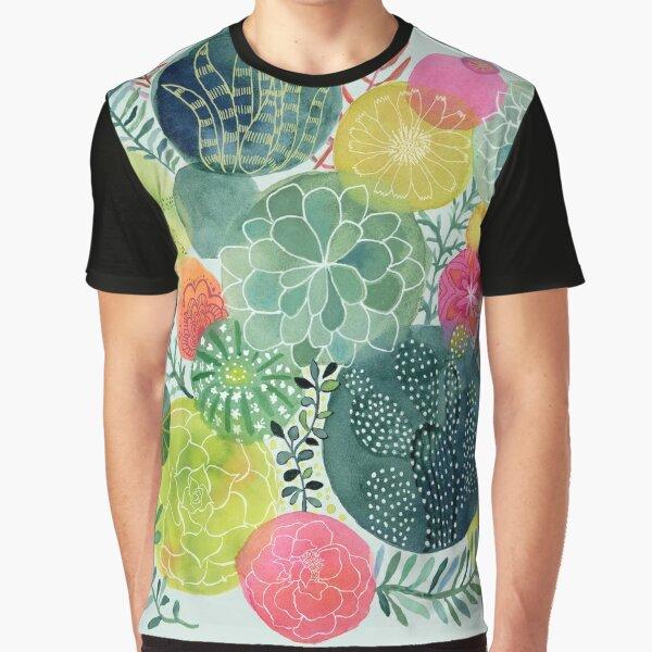 Succulent Circles Graphic T-Shirt