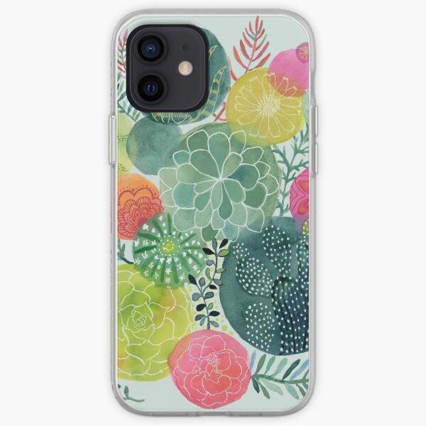 Succulent Circles iPhone Soft Case