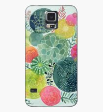 Succulent Circles Case/Skin for Samsung Galaxy