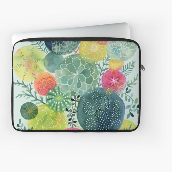 Succulent Circles Laptop Sleeve
