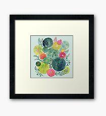 Succulent Circles Framed Print