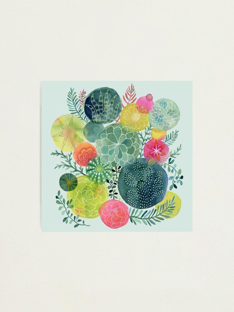 Alternate view of Succulent Circles Photographic Print