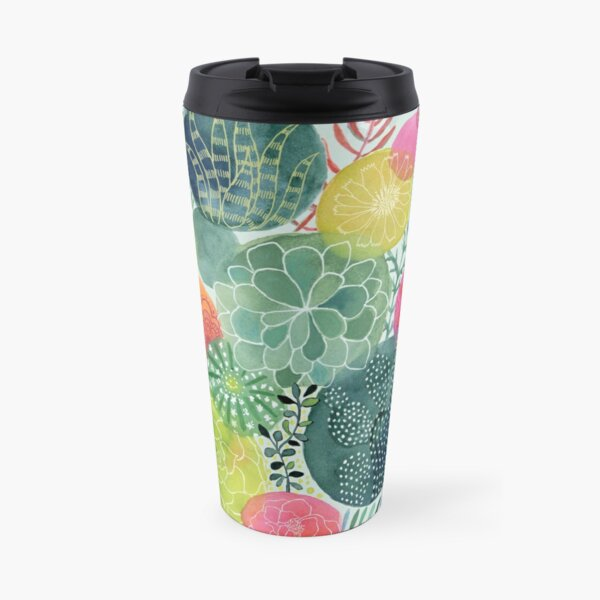 Succulent Circles Travel Mug
