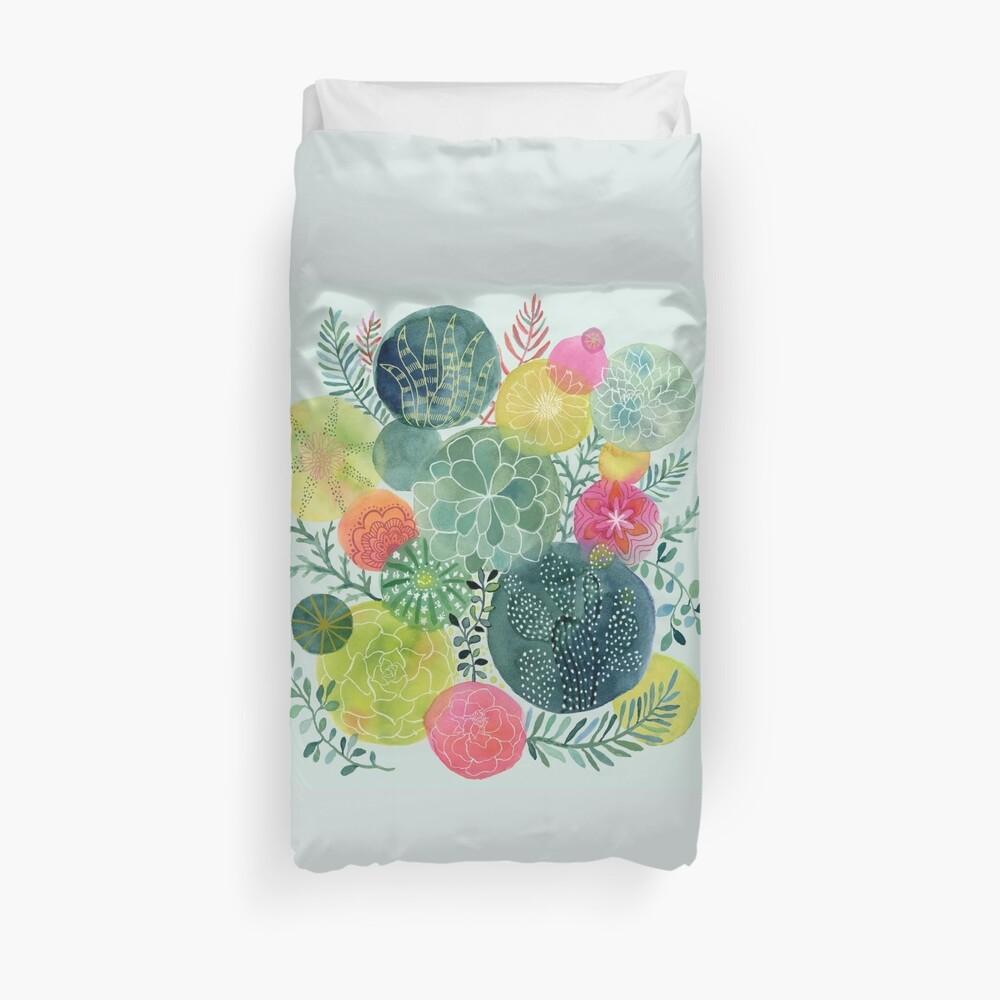 Succulent Circles Duvet Cover
