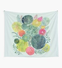 Succulent Circles Wall Tapestry