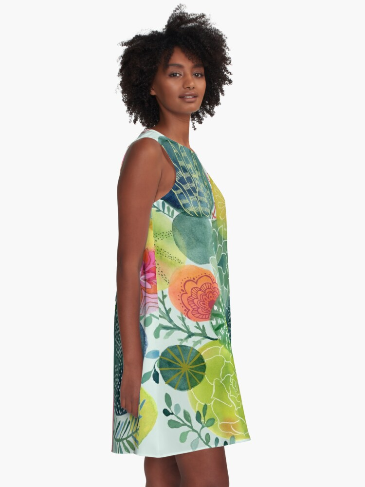 Alternate view of Succulent Circles A-Line Dress