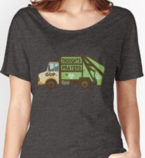 Thoughts and Prayers Garbage Truck Pro-Gun Control Women's Relaxed Fit T-Shirt