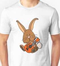 Humorous Cute Bunny Rabbit Playing Guitar T-Shirt