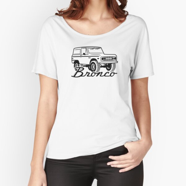 1966-1977 Ford Bronco, w/logo black print Relaxed Fit T-Shirt