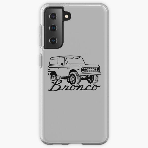1966-1977 Ford Bronco, w/logo black print Samsung Galaxy Soft Case
