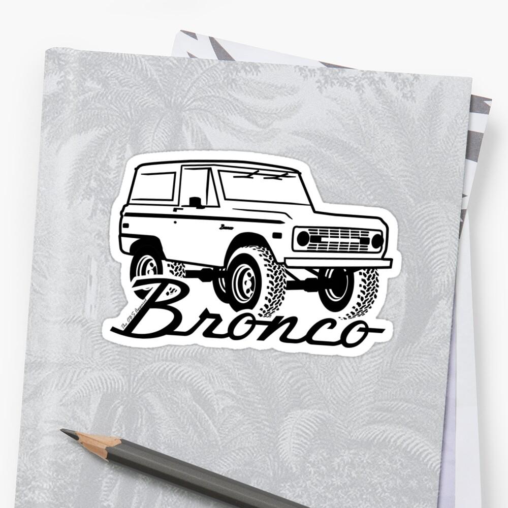 1966-1977 Ford Bronco, con logo negro estampado Pegatinas