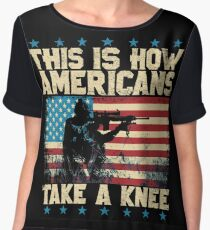 This is How Americans Take a Knee - Boycott the NFL Women's Chiffon Top