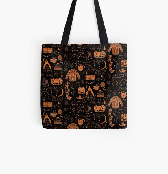 Autumn Nights: Halloween All Over Print Tote Bag