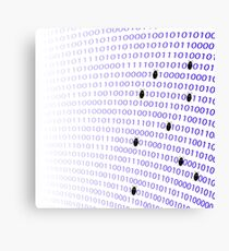 Binary Code Background. Numbers Concept. Algorithm, Data Code, Decryption and Encoding Canvas Print