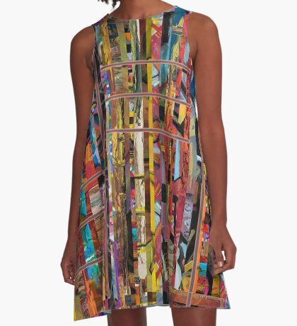 Stripped A-Line Dress