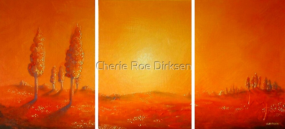 Red Misty Morning by Cherie Roe Dirksen