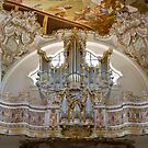 Welfenmünster ceiling and pipe organ, Bavaria, Germany by Jenny Setchell