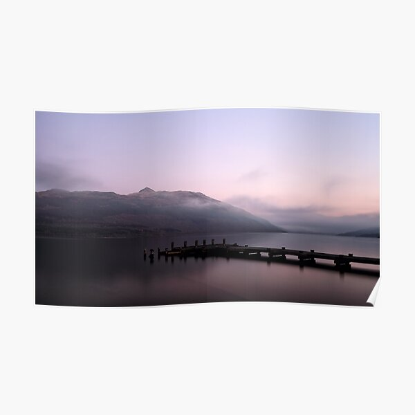 Misty Loch Lomond at Sunset Poster
