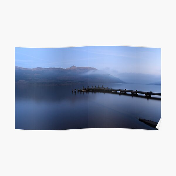 Misty Loch Lomond at Twilight Poster