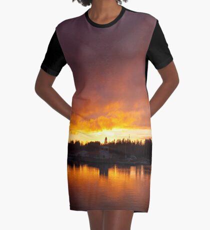 Burning Graphic T-Shirt Dress