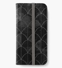 Mermaid scales. Black and white watercolor. iPhone Wallet/Case/Skin