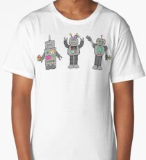 Robots in Spring Long T-Shirt