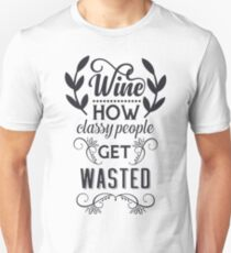 Funny Wine Quote Typography T-Shirt