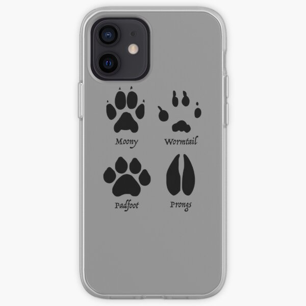Moony, Wormtail, Padfoot, and Prongs iPhone Soft Case