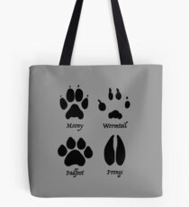 Moony, Wormtail, Padfoot, and Prongs Tote Bag