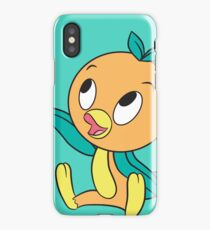 Orange Bird Sitting Iconic iPhone Case/Skin