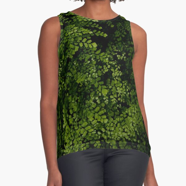 Small leaves.  Sleeveless Top