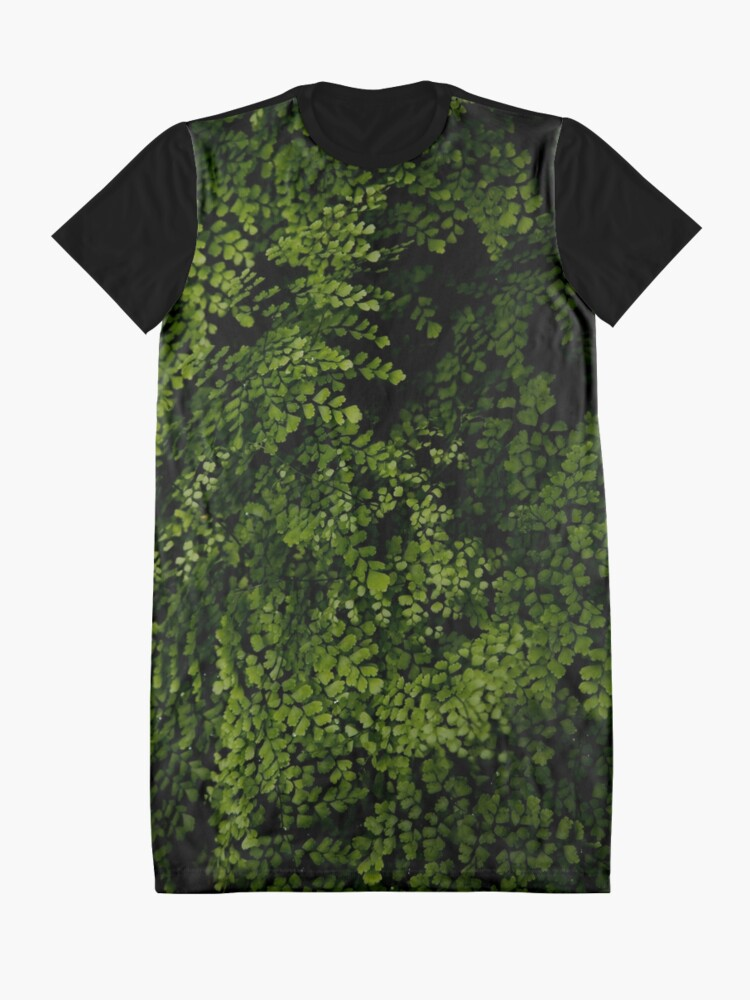 Alternate view of Small leaves.  Graphic T-Shirt Dress