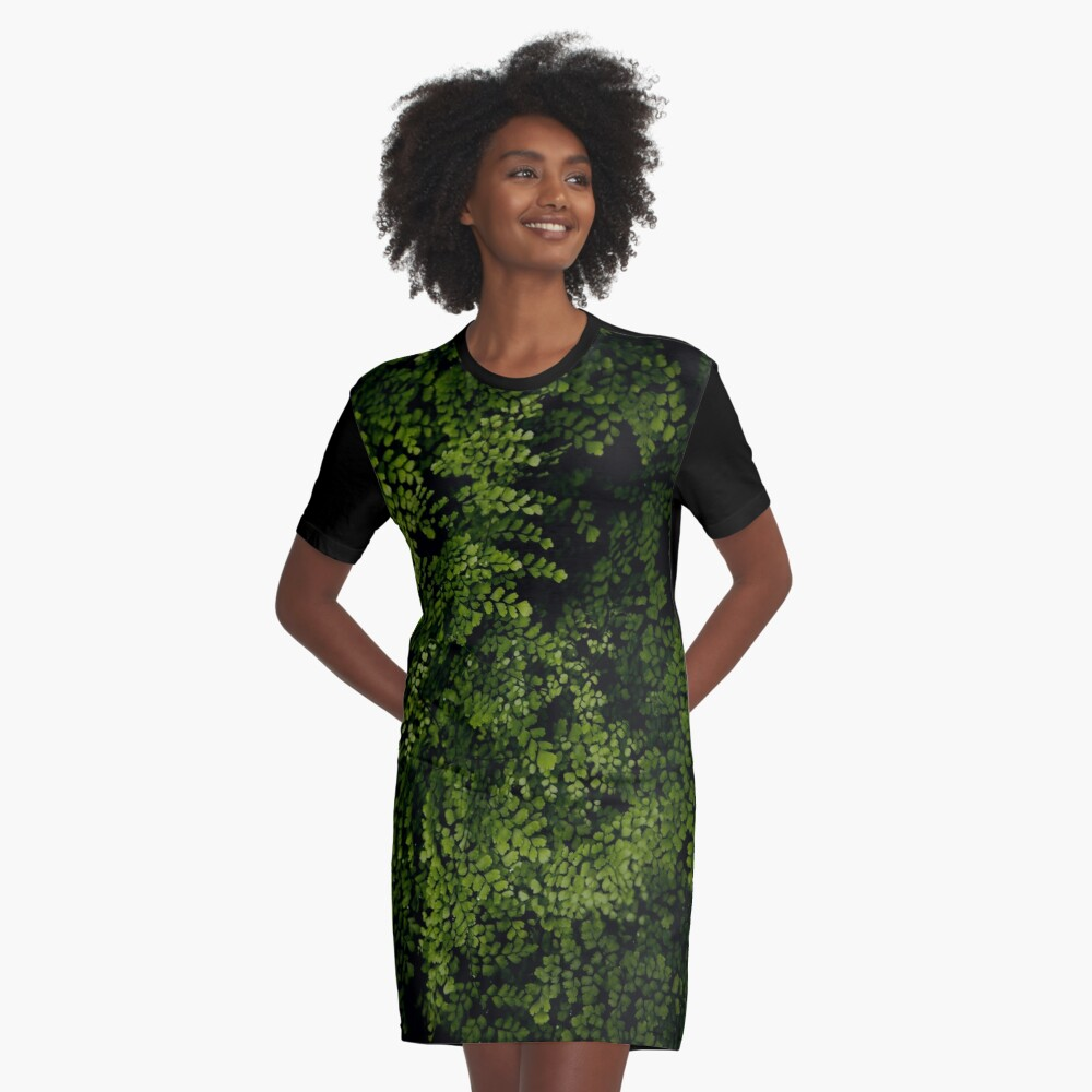 Small leaves.  Graphic T-Shirt Dress