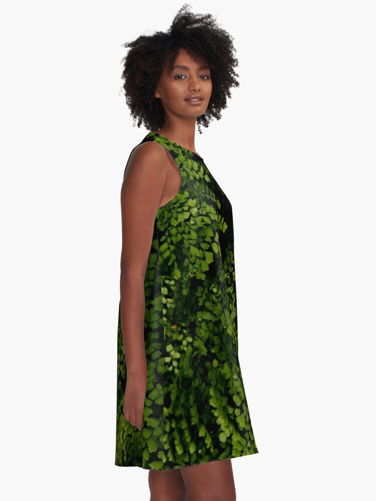 Alternate view of Small leaves.  A-Line Dress