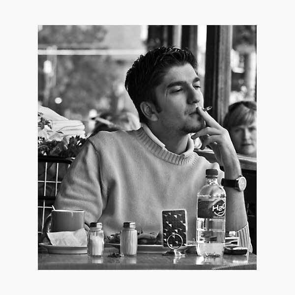 Coffee and a cigarette Photographic Print