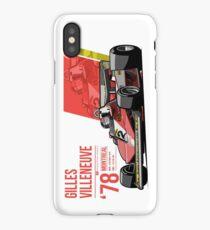 Gilles Villeneuve - 1978 Montreal iPhone Case/Skin