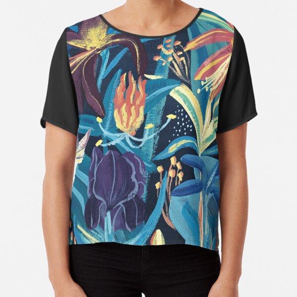 Botanicals Theme Inspired Chiffon Top