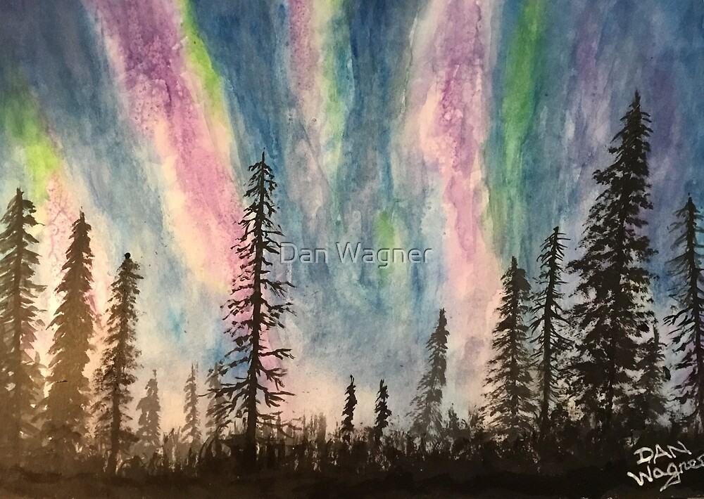 Northern woods lights by Dan Wagner