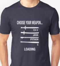 Choose Your Weapon Programmer Joke T-Shirt