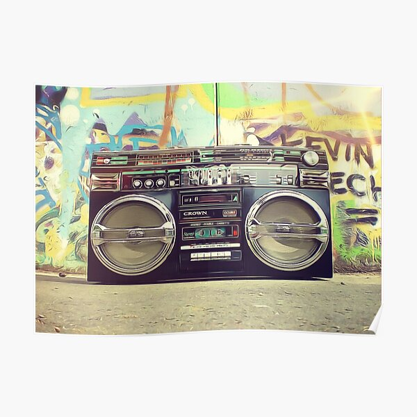 80s Boom Box Trendy Style! Póster