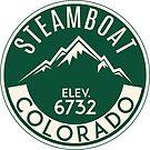 Steamboat Springs Colorado Skiing Mountains Ski Skier Snowboard by MyHandmadeSigns