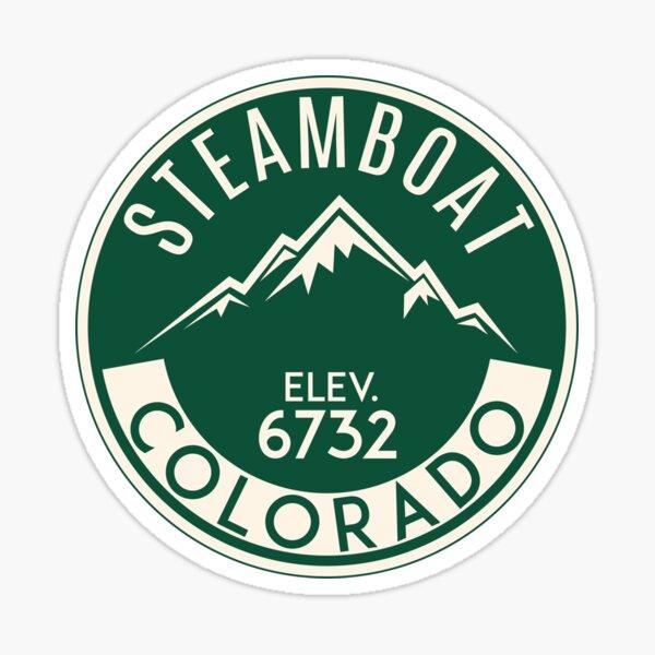 Steamboat Springs Colorado Skiing Mountains Ski Skier Snowboard Sticker